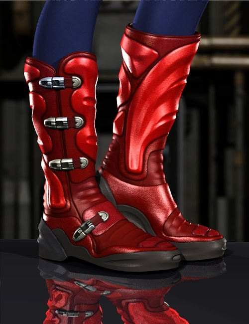 High-Tech Trekker Boots for V4 and A4 by: blondie9999, 3D Models by Daz 3D