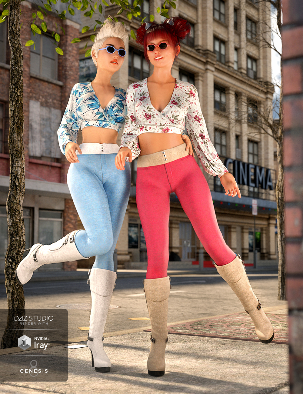 dForce City Sleek Outfit Textures by: Moonscape GraphicsSade, 3D Models by Daz 3D