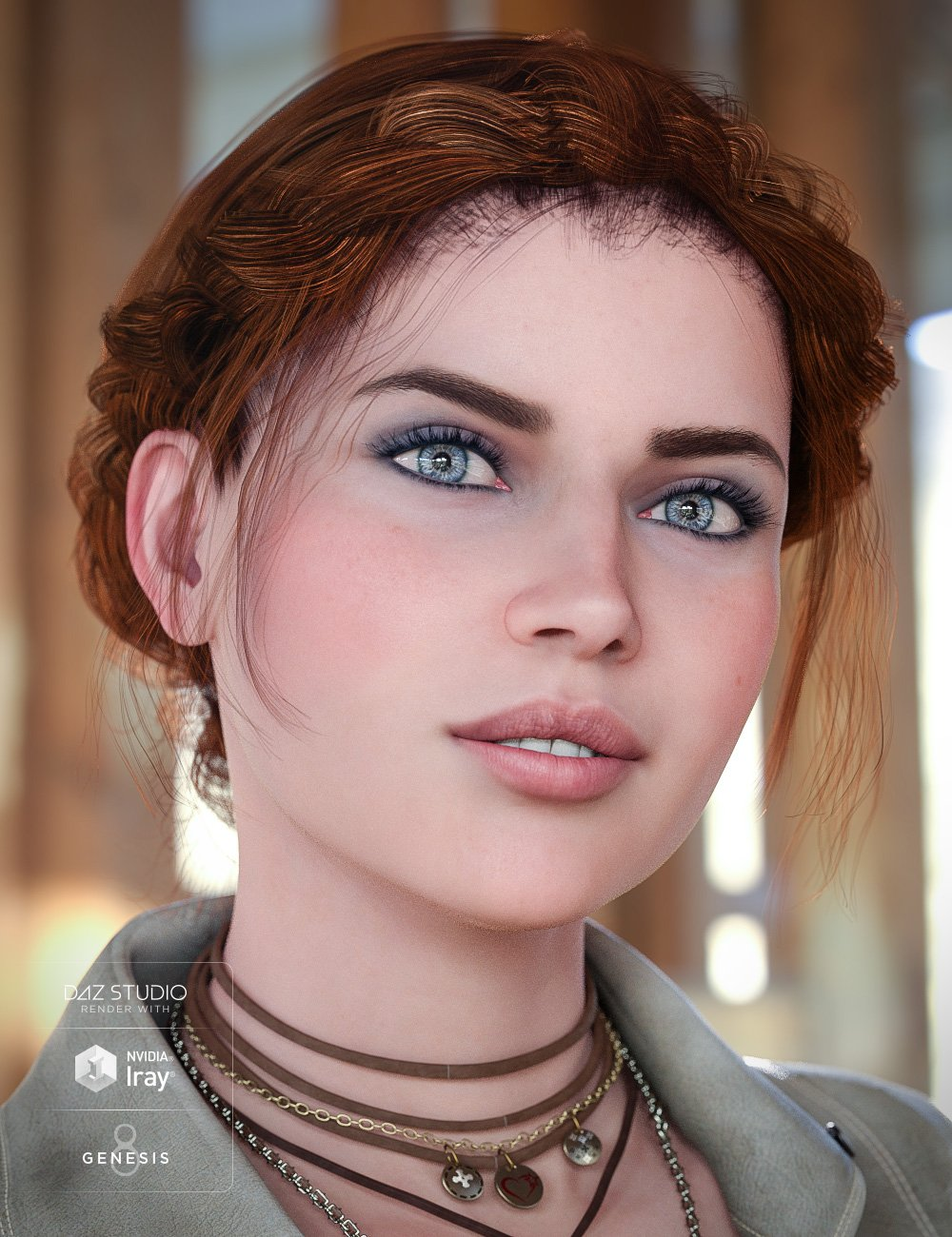 Braided Band Hair for Genesis 8 Female(s) by: goldtassel, 3D Models by Daz 3D