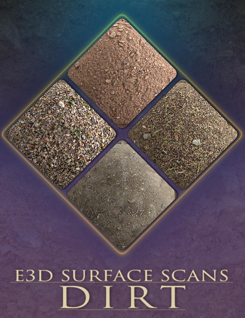 E3D Surface Scans - Dirt Textures and Merchant Resource by: EcoManiac3D, 3D Models by Daz 3D