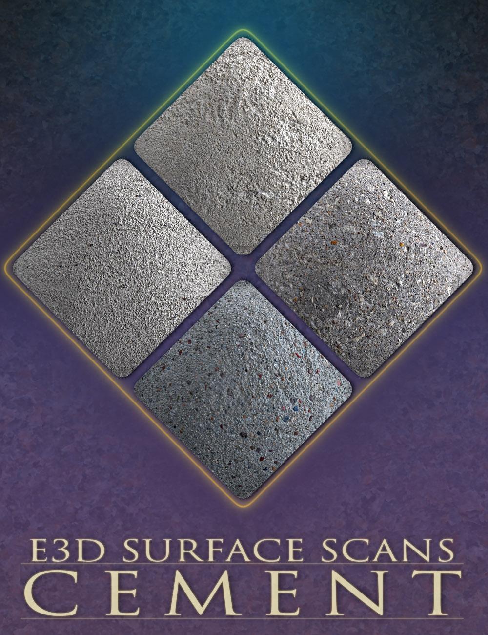 E3D Surface Scans - Cement Textures and Merchant Resource by: EcoManiac3D, 3D Models by Daz 3D