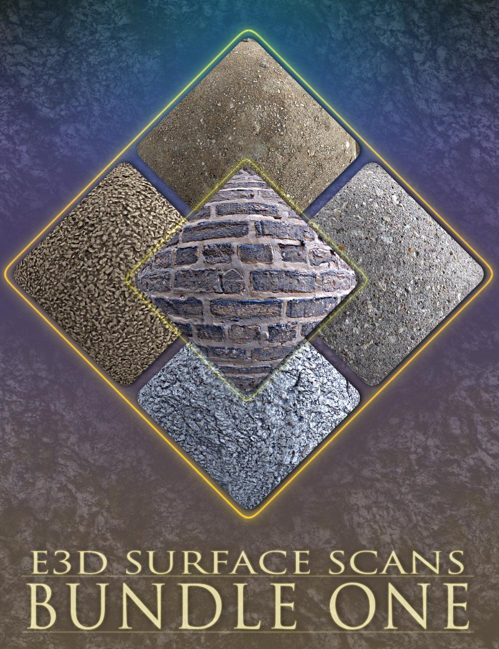 E3D Surface Scans - Bundle One by: EcoManiac3D, 3D Models by Daz 3D