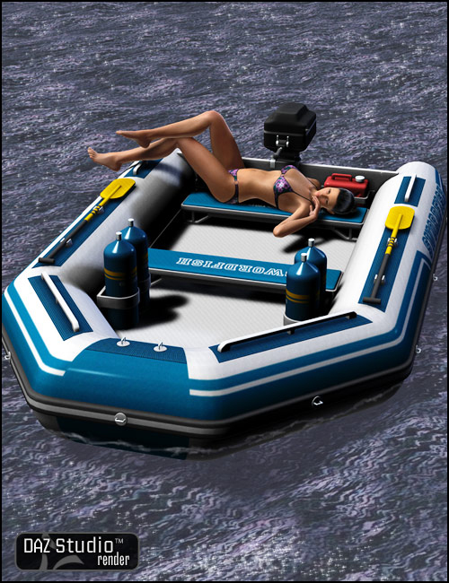 Inflatable Boat by: , 3D Models by Daz 3D