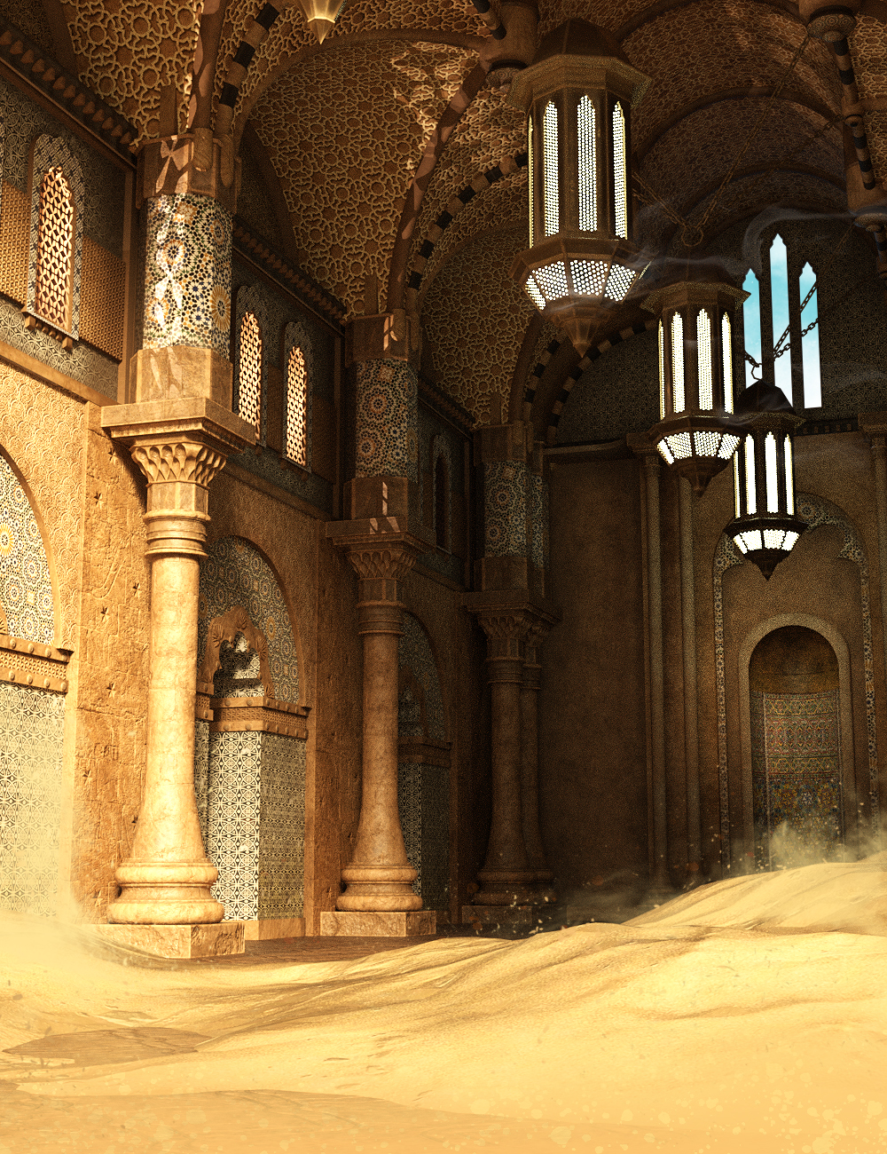Temple of Sand by: The AntFarm, 3D Models by Daz 3D
