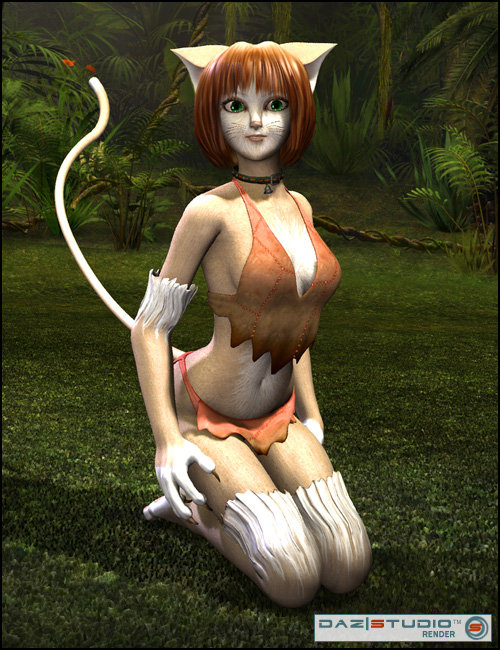 Catgirl for Aiko 4 and Victoria 4 by: WillDupreMAB, 3D Models by Daz 3D