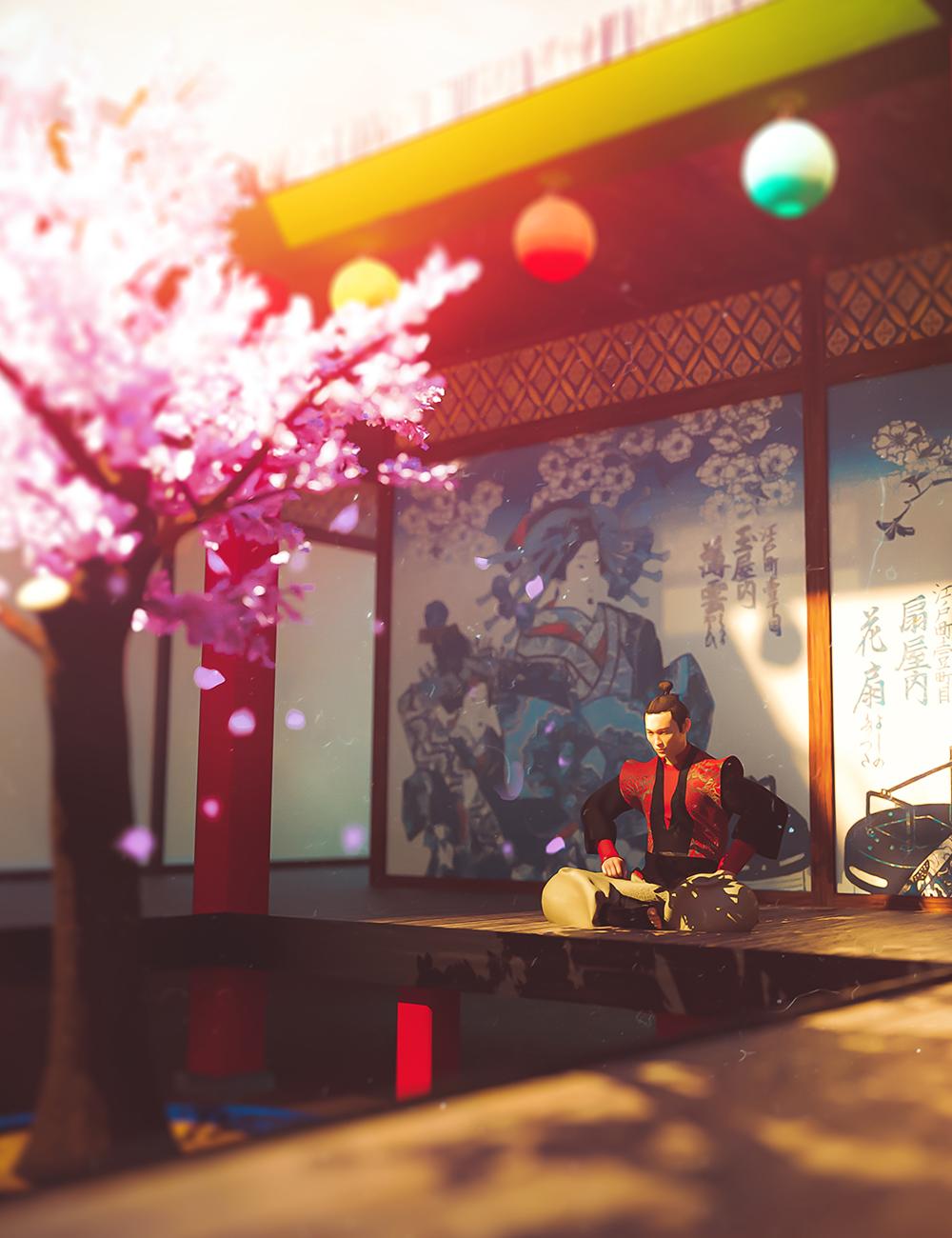 Japanese Tree Room by: EsidFenixPhoenix, 3D Models by Daz 3D