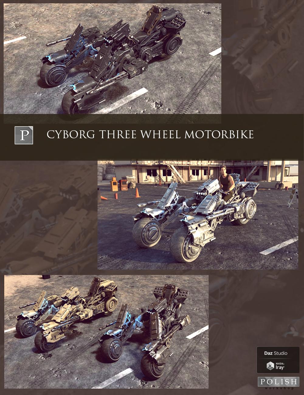 Cyborg Three Wheel Motorbike by: Polish, 3D Models by Daz 3D