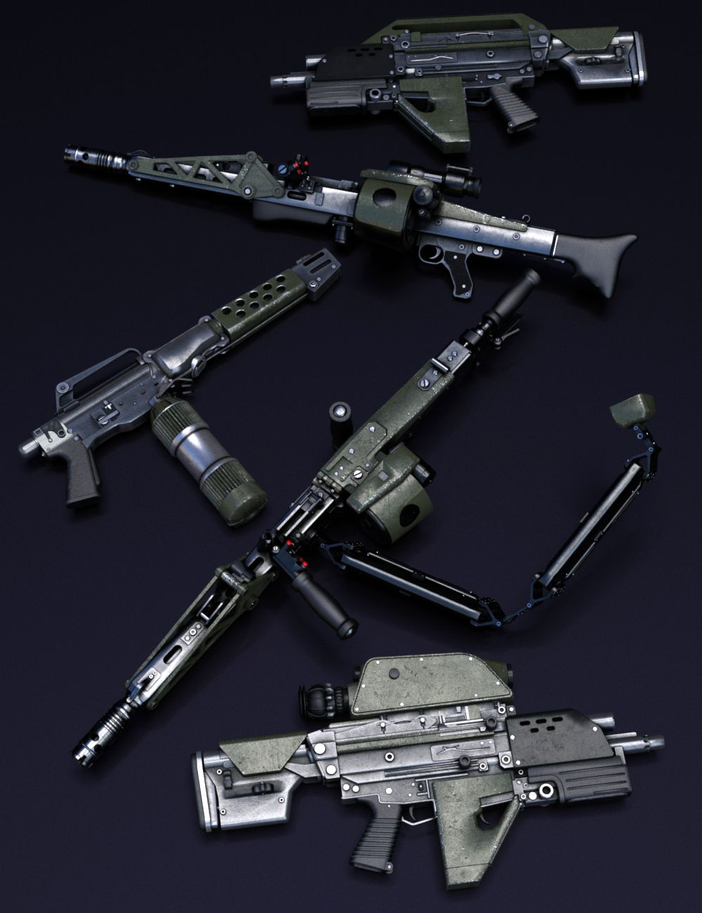 UCMC Weapons by: DzFire, 3D Models by Daz 3D