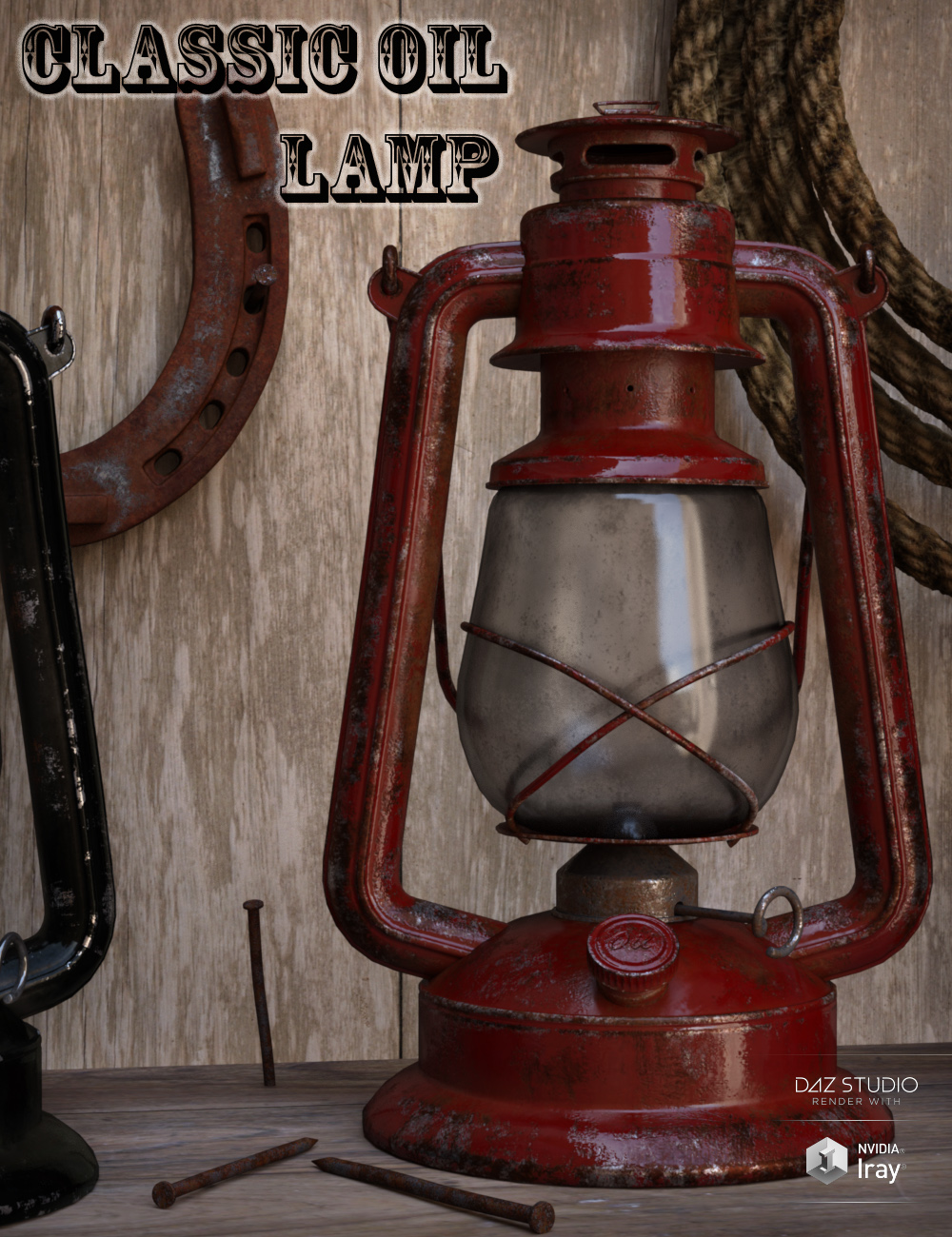 Classic Oil Lamp by: Wicked Creations, 3D Models by Daz 3D