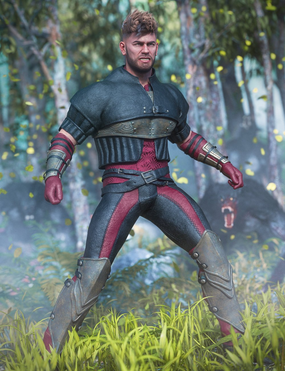 Crows Watch Outfit for Genesis 8 Male(s) by: Barbara BrundonjoelegeckoMoonscape GraphicsSade, 3D Models by Daz 3D