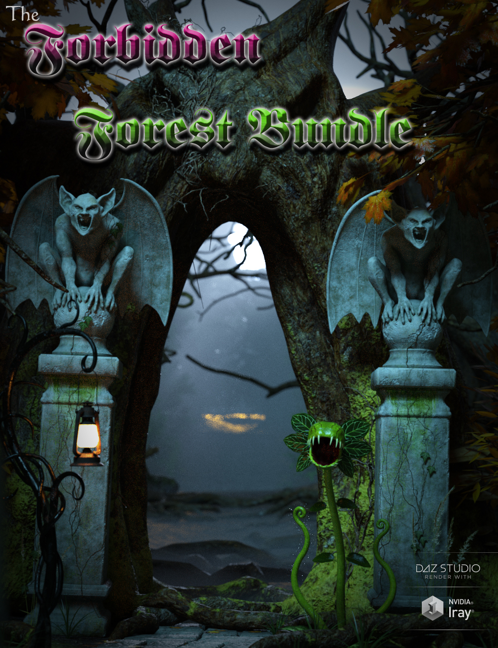 Forbidden Forest Bundle by: Wicked Creations, 3D Models by Daz 3D