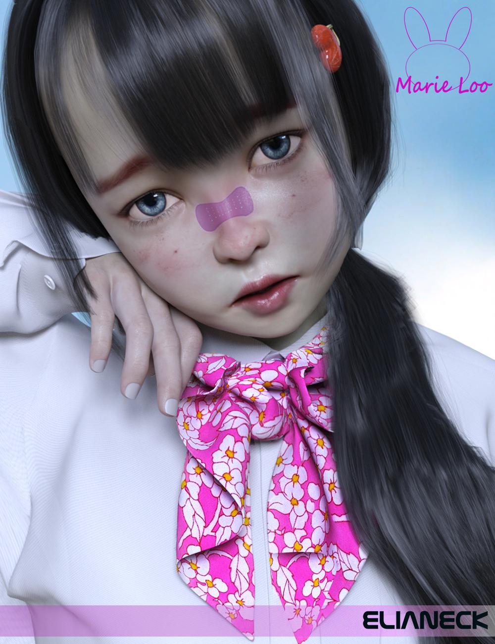 Marie Loo for Genesis 8 Female by: Elianeck, 3D Models by Daz 3D