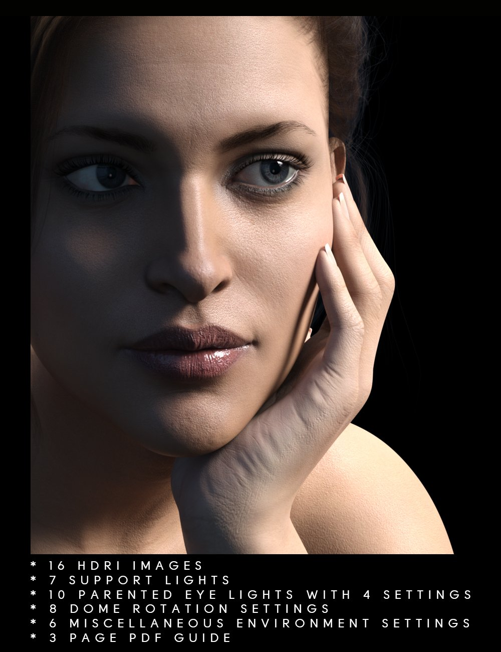 Perfect Portrait Lights by: chevybabe25, 3D Models by Daz 3D