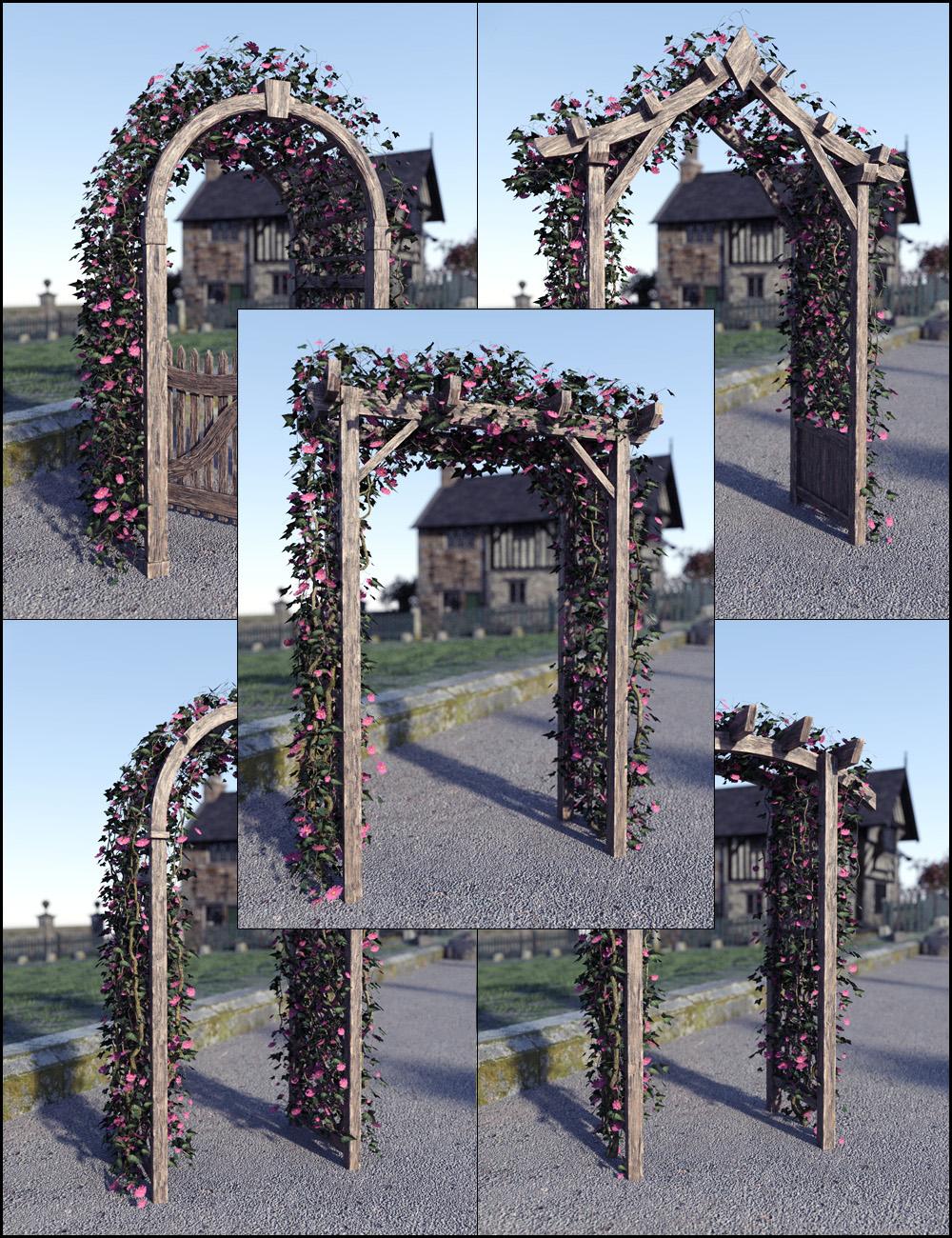 Garden Arches Vol 1 by: David BrinnenForbiddenWhispers, 3D Models by Daz 3D