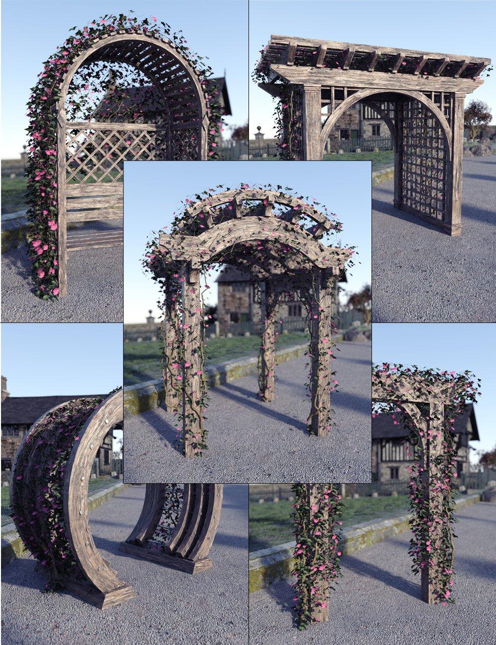 Garden Arches Vol 2 by: David BrinnenForbiddenWhispers, 3D Models by Daz 3D