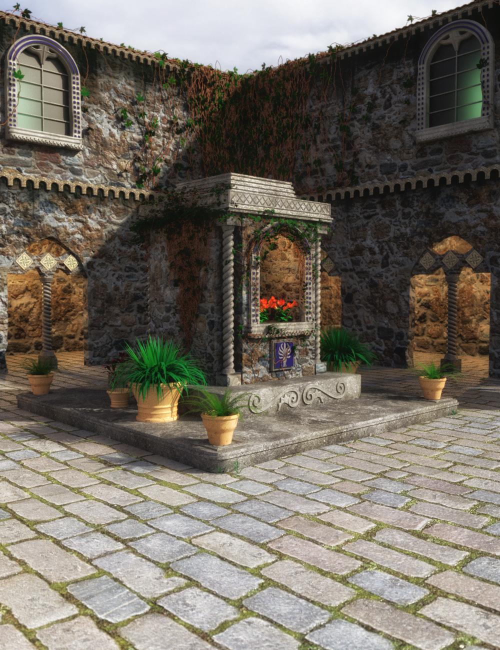 Villa Cimone Courtyard by: ImagineX, 3D Models by Daz 3D