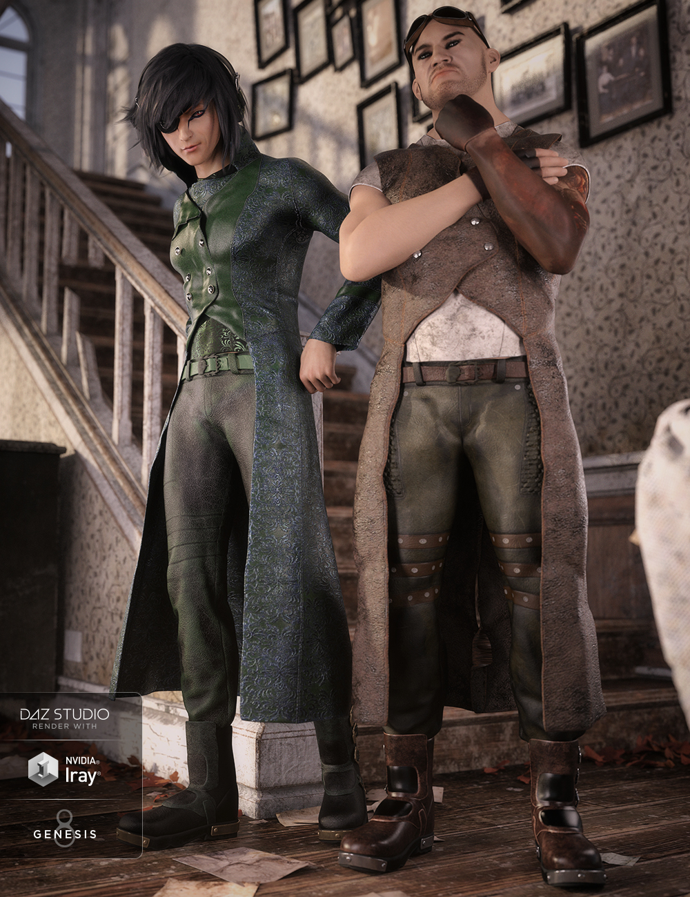 dForce Tepes Outfit Textures by: Moonscape GraphicsSade, 3D Models by Daz 3D