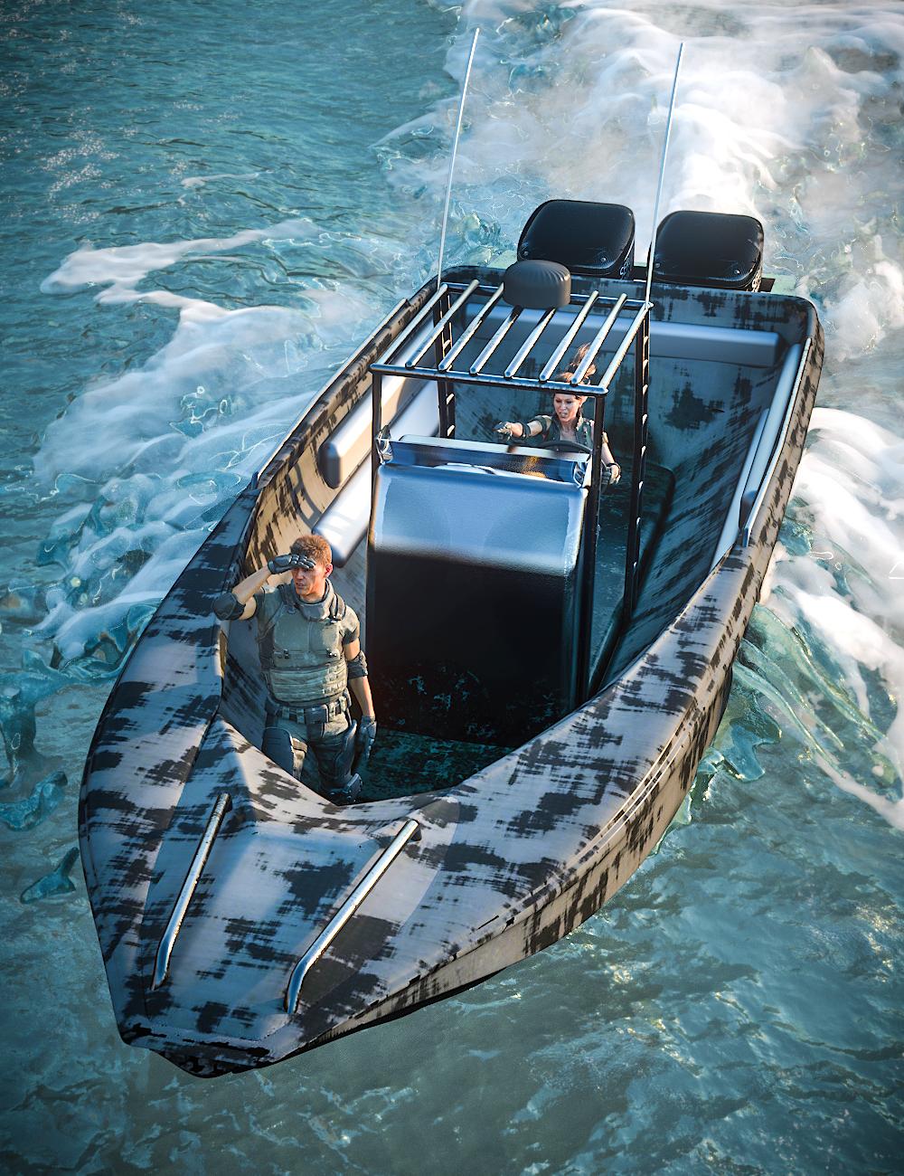 Patrol Boat by: Serum, 3D Models by Daz 3D