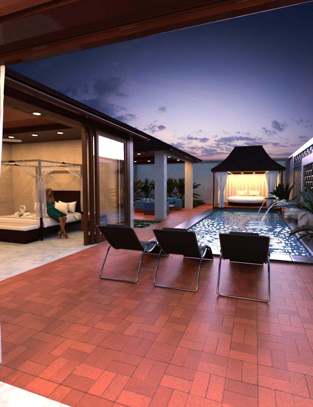 Pool Villa by: Charlie, 3D Models by Daz 3D