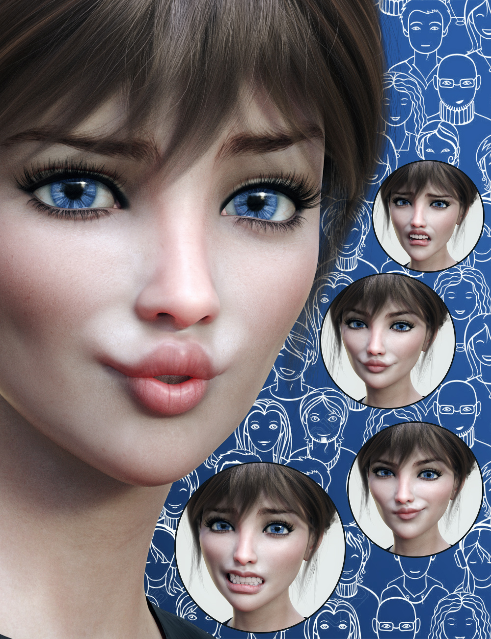 Young Expressive for Genesis 8 Female(s) by: Neikdian, 3D Models by Daz 3D