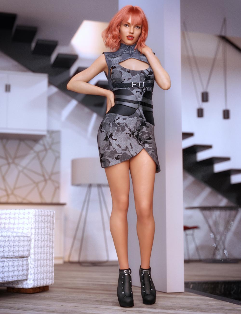 dForce Lilia Clothing Set for Genesis 8 Female(s) by: CynderBlueSarsa, 3D Models by Daz 3D