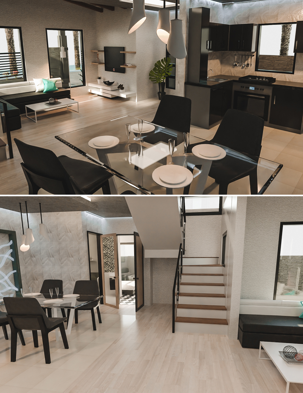 Corner Lot House by: Tesla3dCorp, 3D Models by Daz 3D