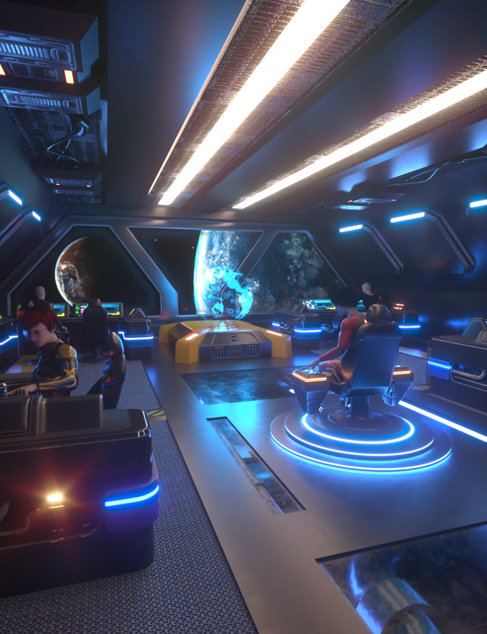 Sci-Fi Starship Bridge Volume 1 by: AcharyaPolina, 3D Models by Daz 3D