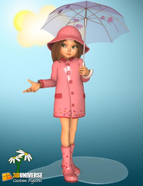 Sadie - Rainy Day by: 3D Universe, 3D Models by Daz 3D