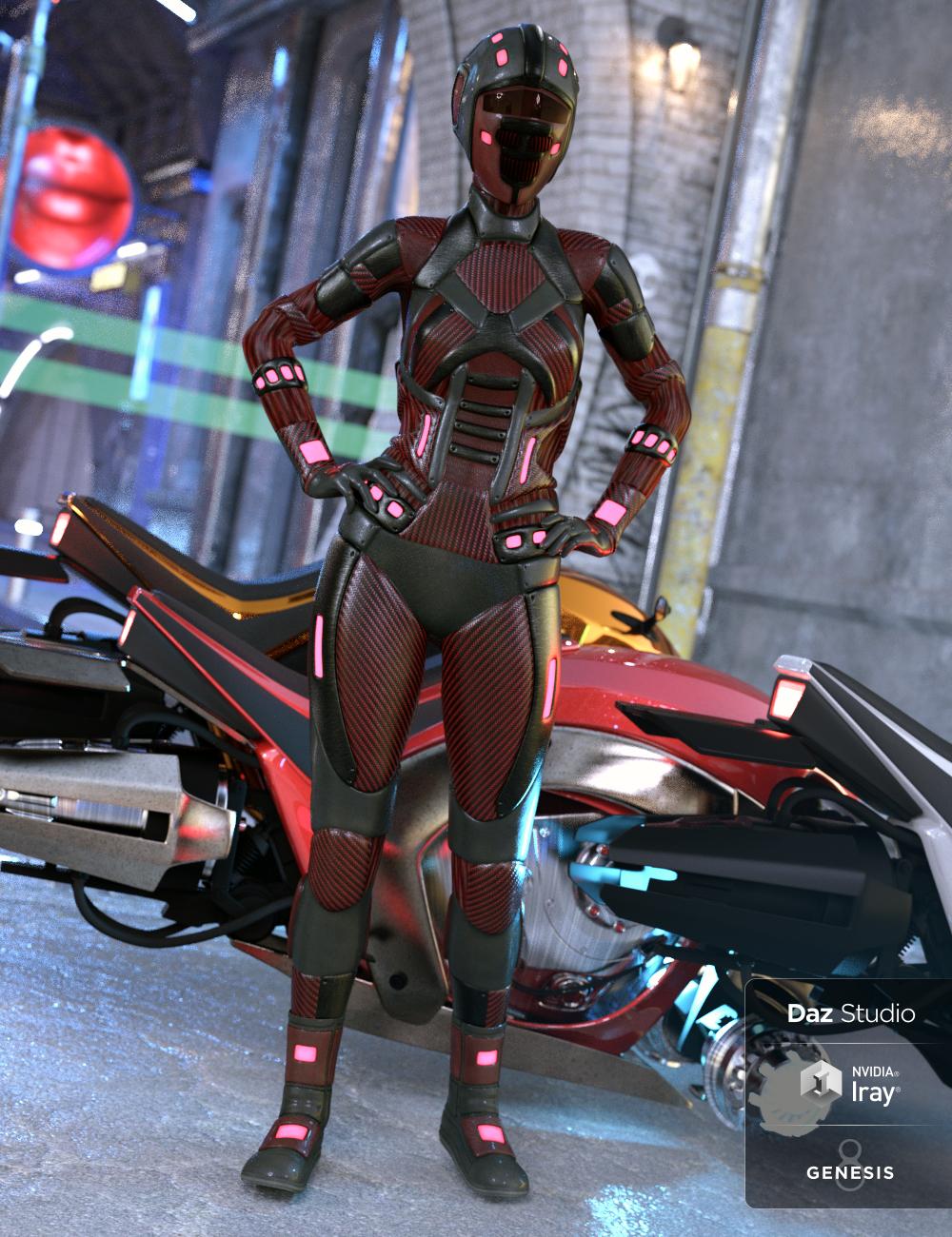 Scifi Angel Racer for Genesis 8 Female(s) by: ArienNikisatez, 3D Models by Daz 3D