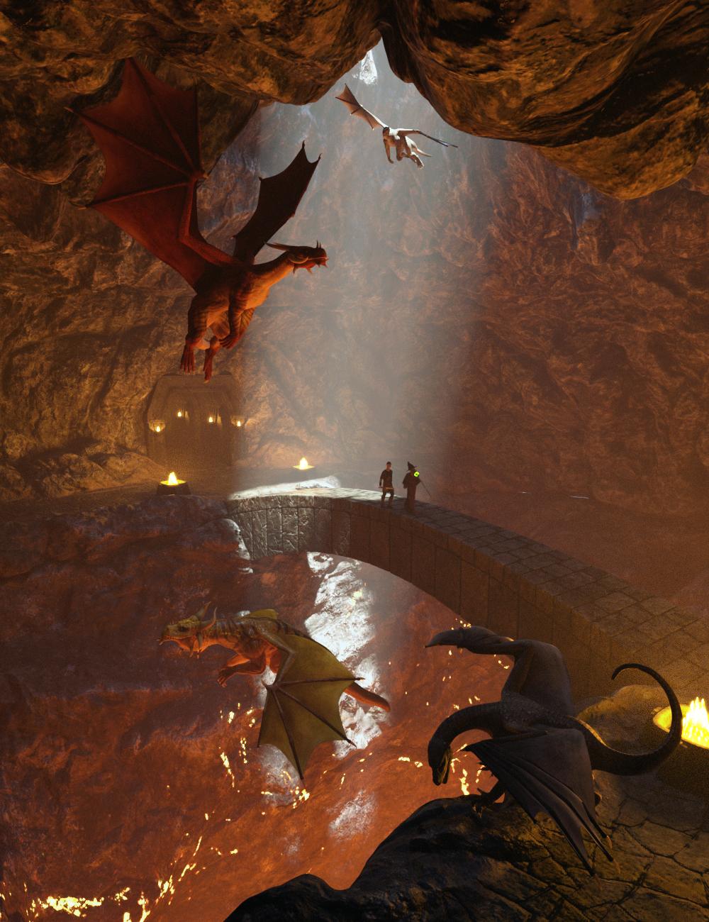 Beneath Fire Mountain by: Predatron, 3D Models by Daz 3D