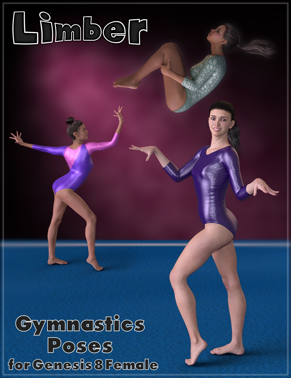 Limber - Gymnastic Poses for Genesis 8 Female by: NewGuy, 3D Models by Daz 3D