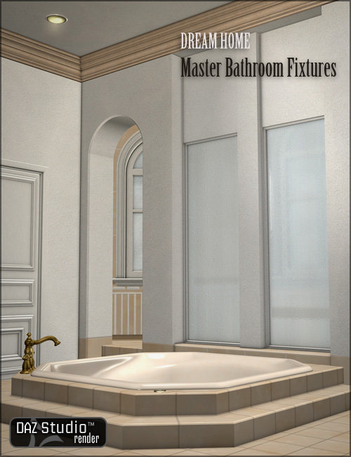 Dream Home: Master Bathroom Fixtures by: , 3D Models by Daz 3D