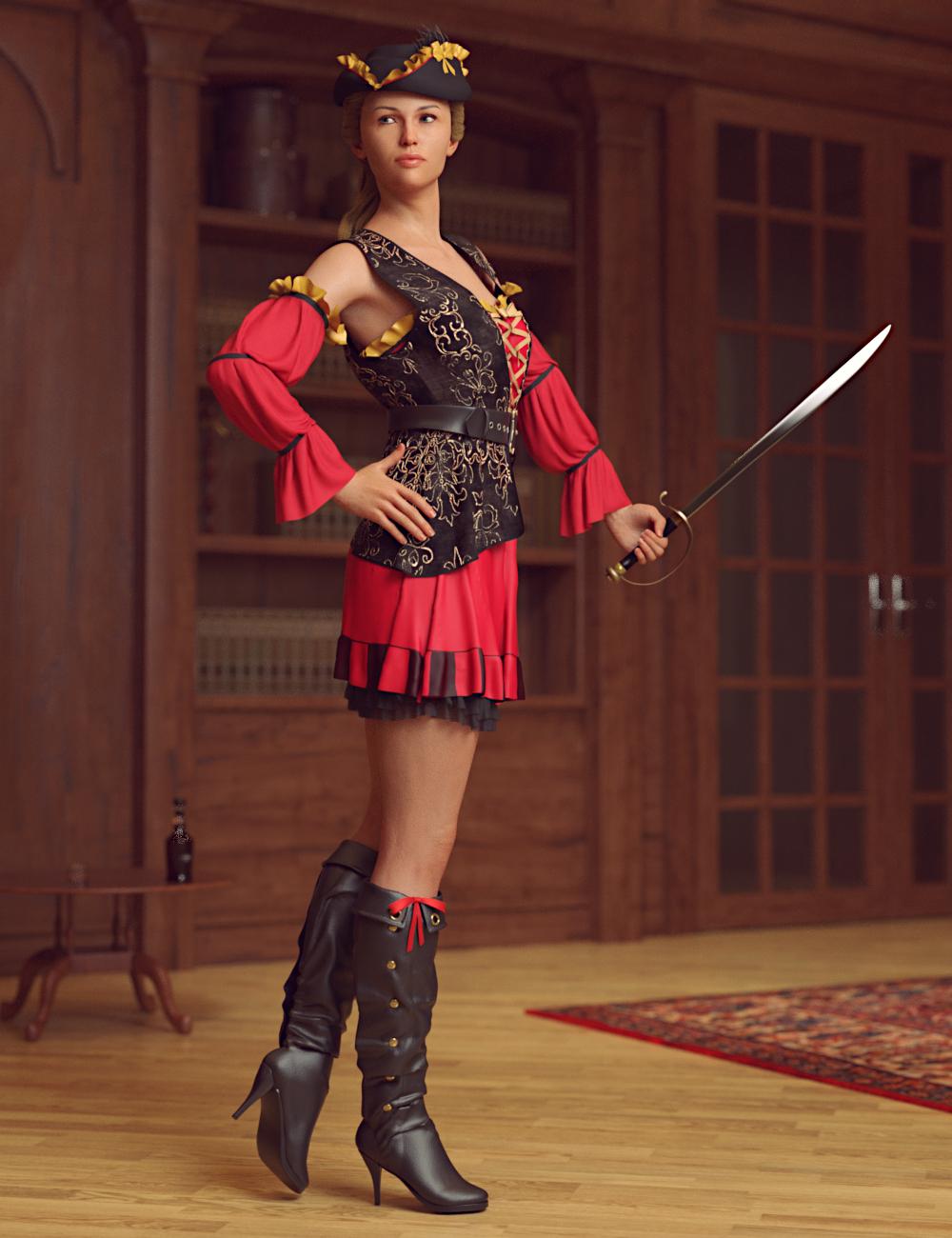 dForce Corsair Wench for Genesis 8 Female(s) by: Toyen, 3D Models by Daz 3D