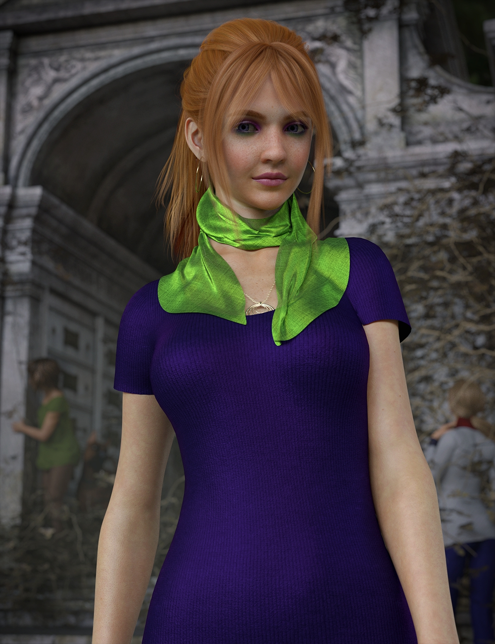 Daphni HD for Genesis 3 and 8 Female by: Lyoness, 3D Models by Daz 3D