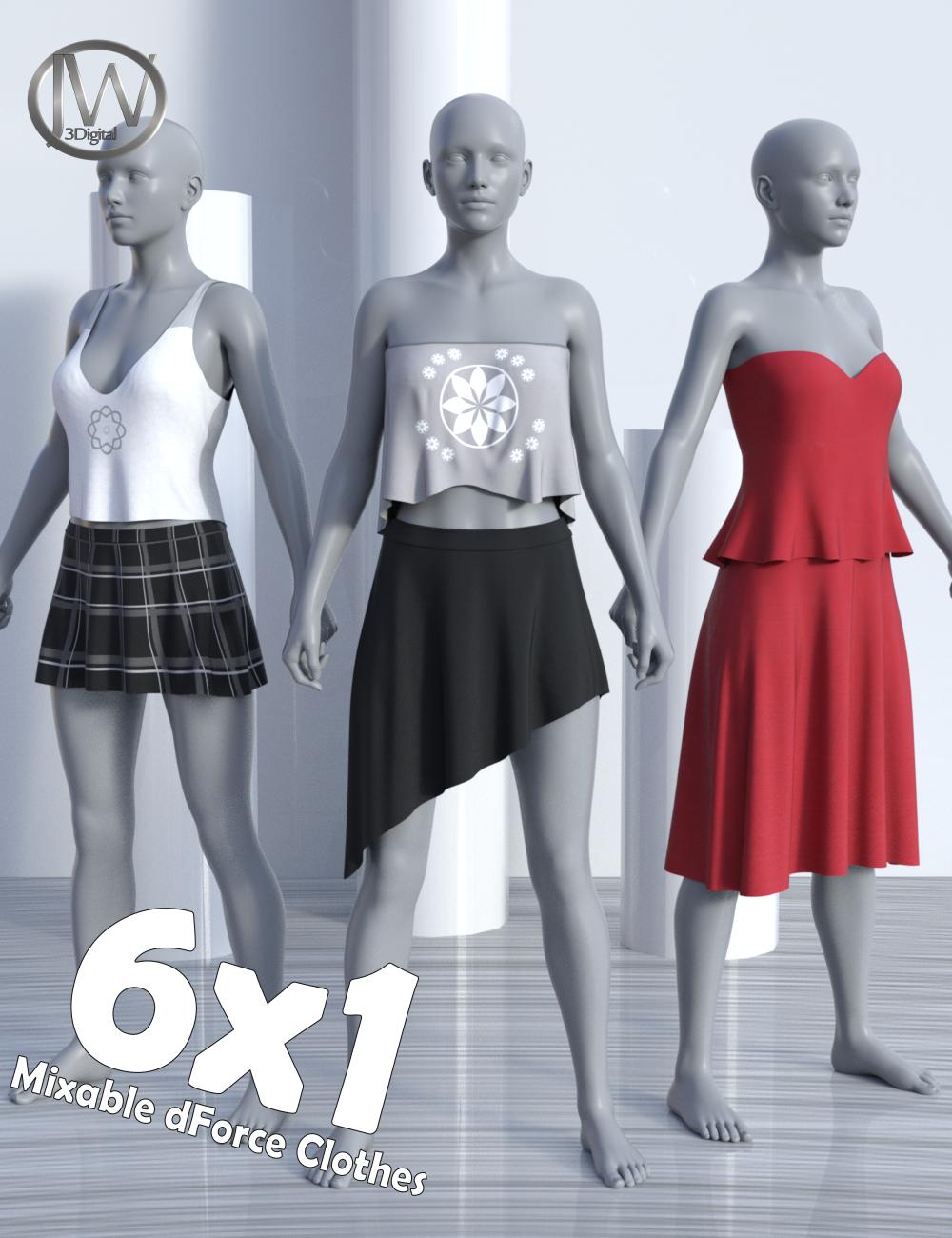 dForce JW Clothes Pack for Genesis 8 Female(s) by: JWolf, 3D Models by Daz 3D