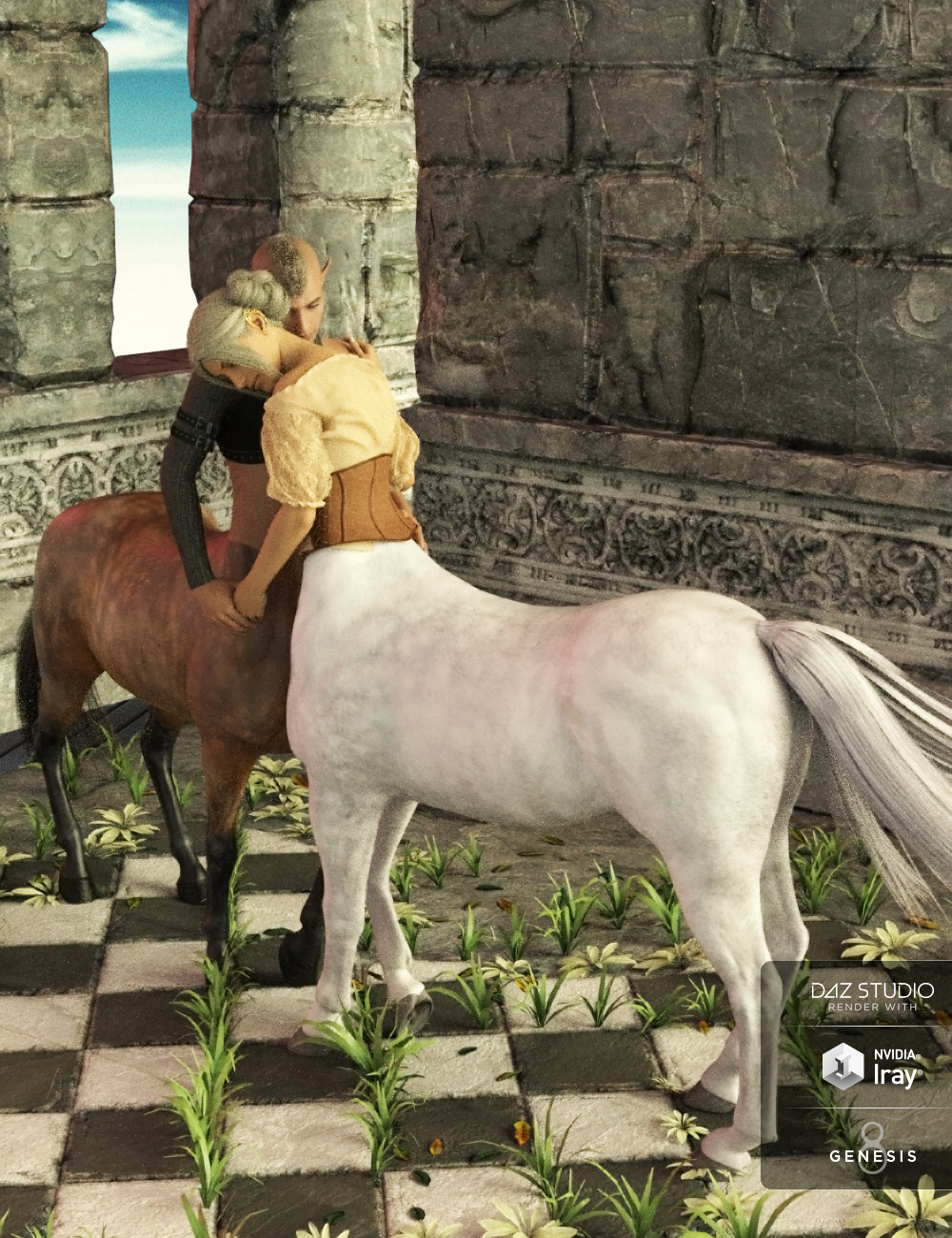 Fantasia Lovers Poses for Genesis 8 and Genesis 8 Centaurs by: Muscleman, 3D Models by Daz 3D