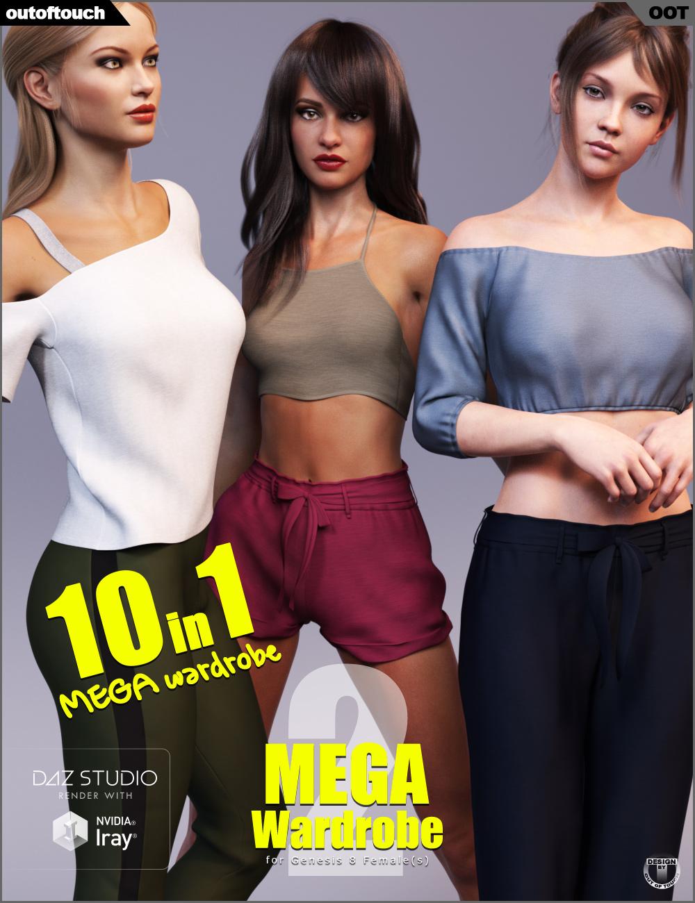 MEGA Wardrobe 2 for Genesis 8 Female(s) by: outoftouch, 3D Models by Daz 3D