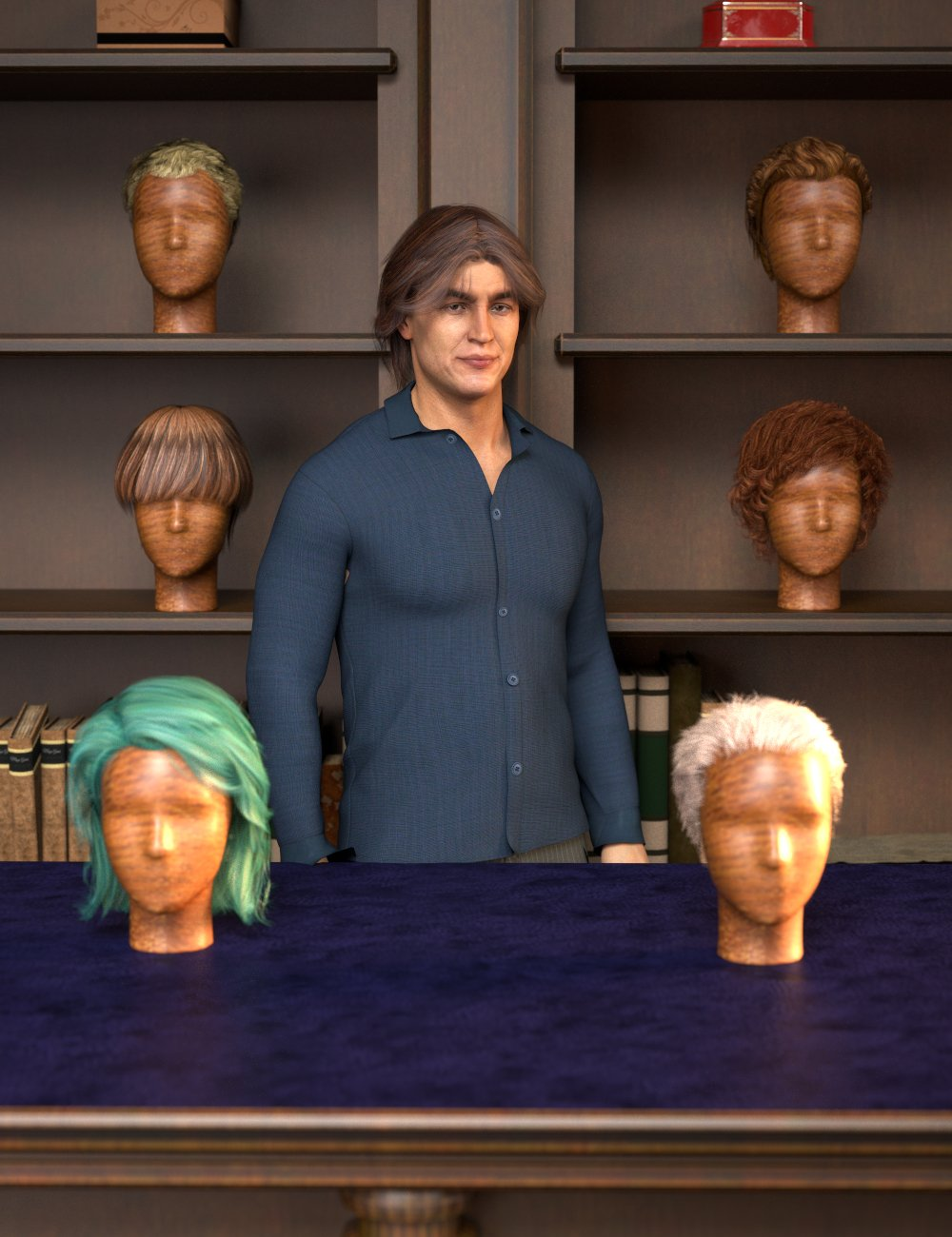 RSSY Hair Converter from Michael 4 to Genesis 8 Male by: SickleyieldRiverSoft Art, 3D Models by Daz 3D