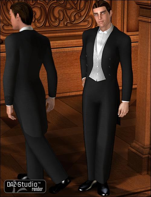 Edwardian Evening Suit for David 3 by: Ravenhair, 3D Models by Daz 3D