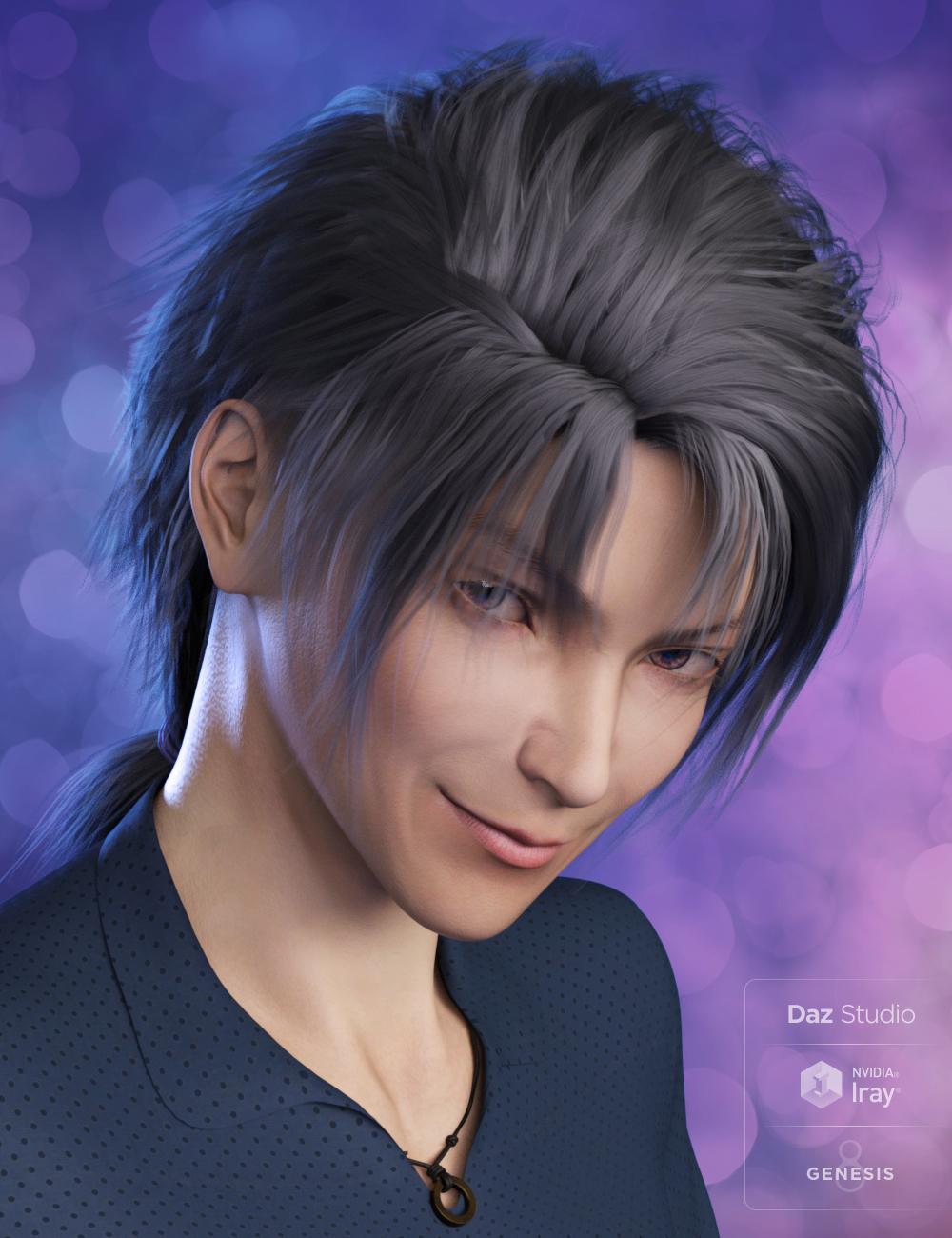 Yuzuru Hair for Genesis 8 Male(s) by: , 3D Models by Daz 3D
