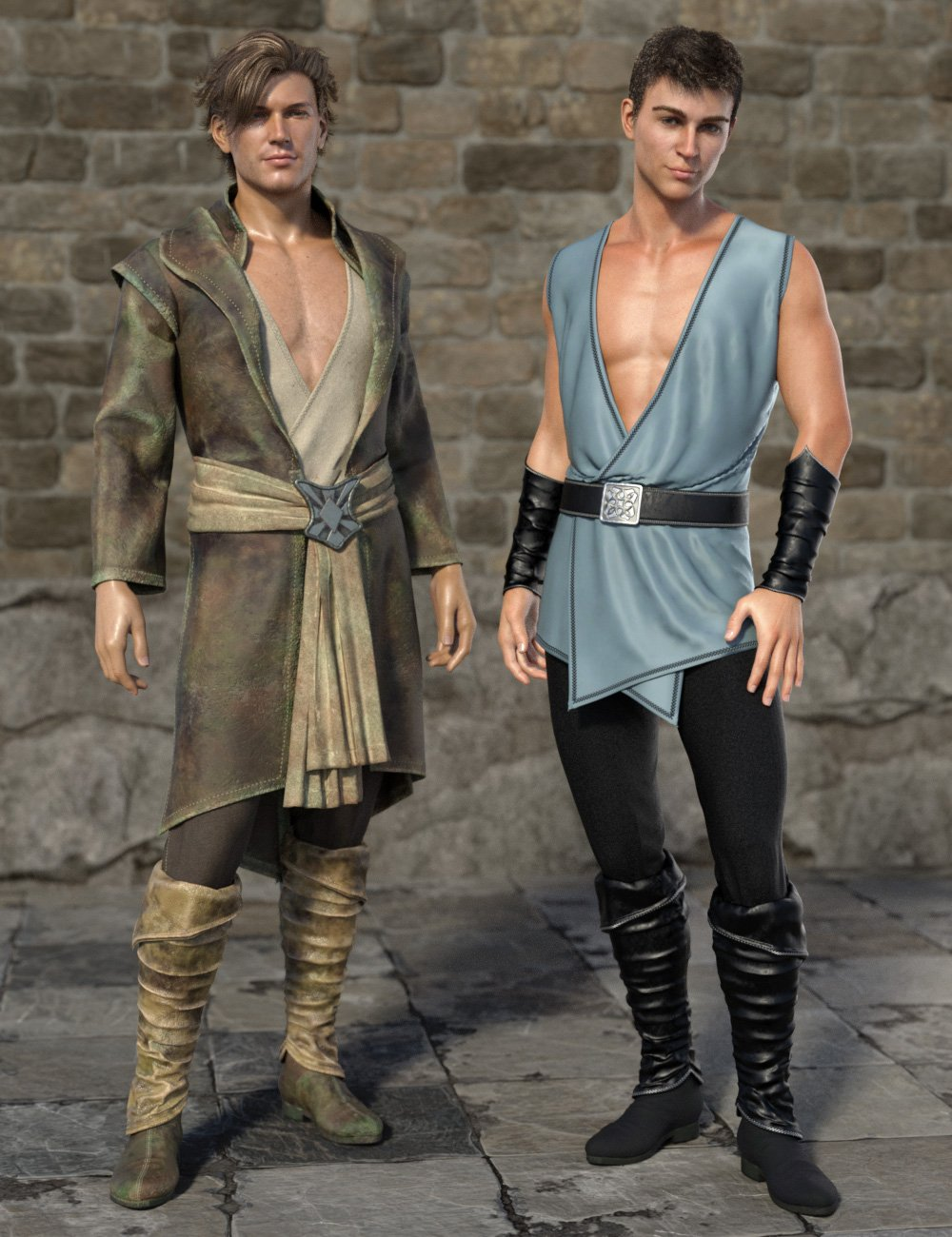 dForce Royal Fantasy Outfit for Genesis 8 Male(s) by: esha, 3D Models by Daz 3D