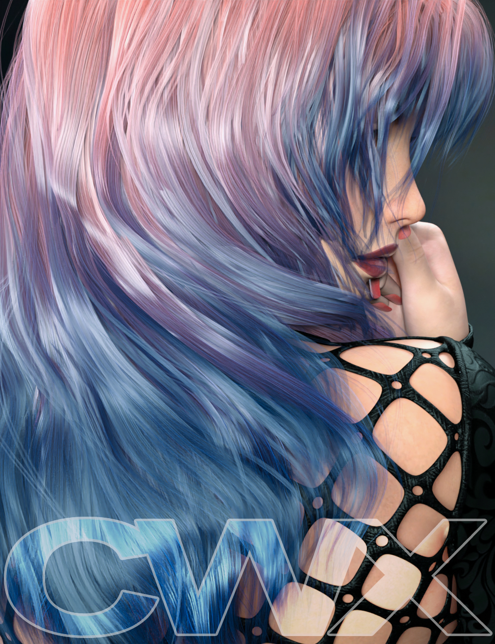 ColorWerks Extreme:  Hair Texture Blending for Iray and dForce Hair by: SloshWerks, 3D Models by Daz 3D