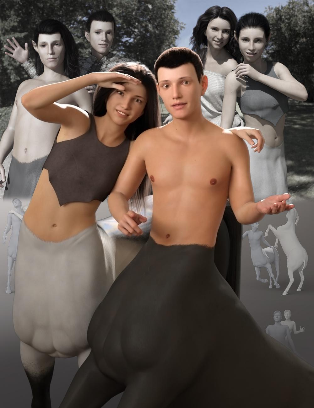 Young Centaurs Bundle by: Quixotry, 3D Models by Daz 3D