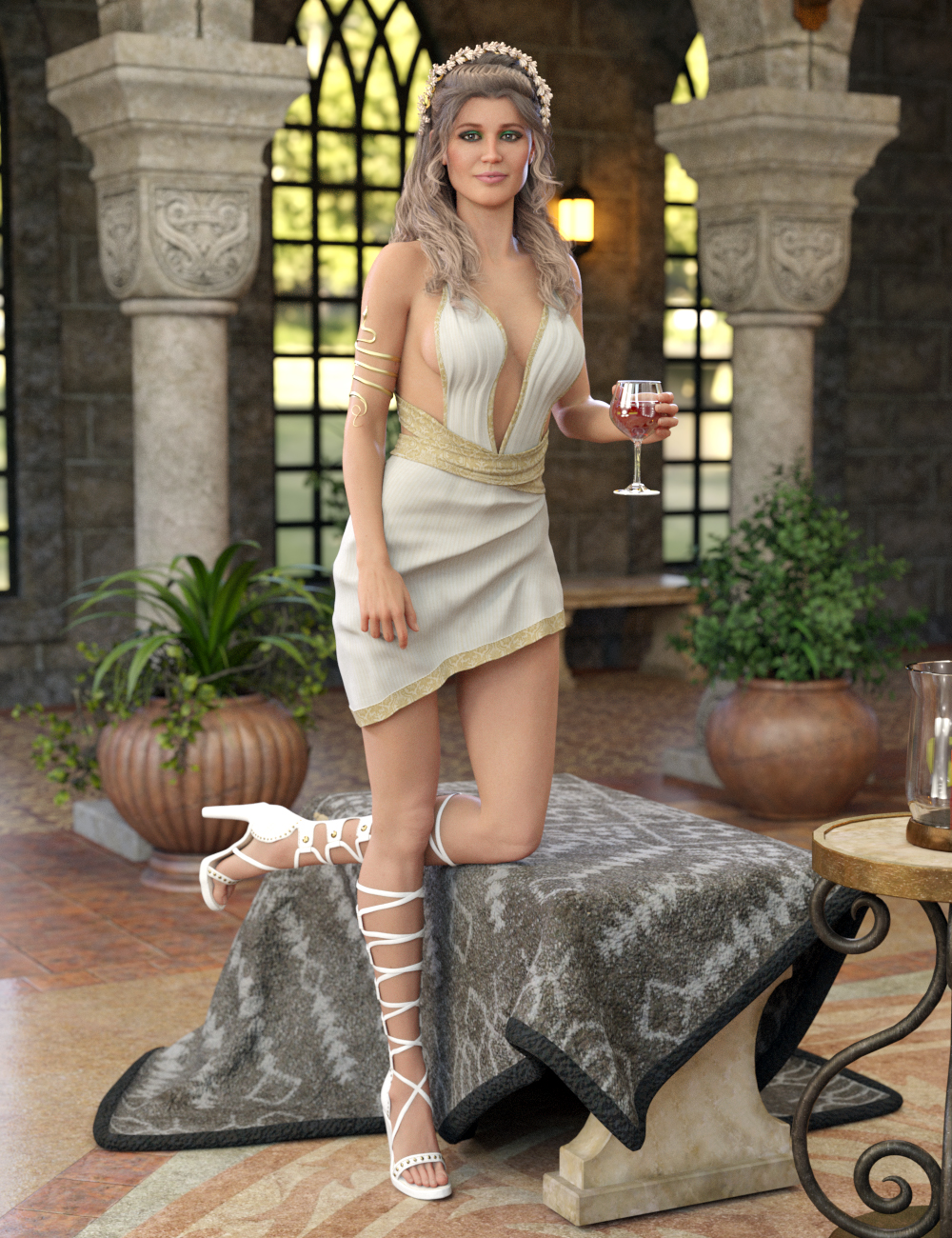 Eleia Outfit for Genesis 8 Female(s) by: 4blueyesDirtyFairy, 3D Models by Daz 3D