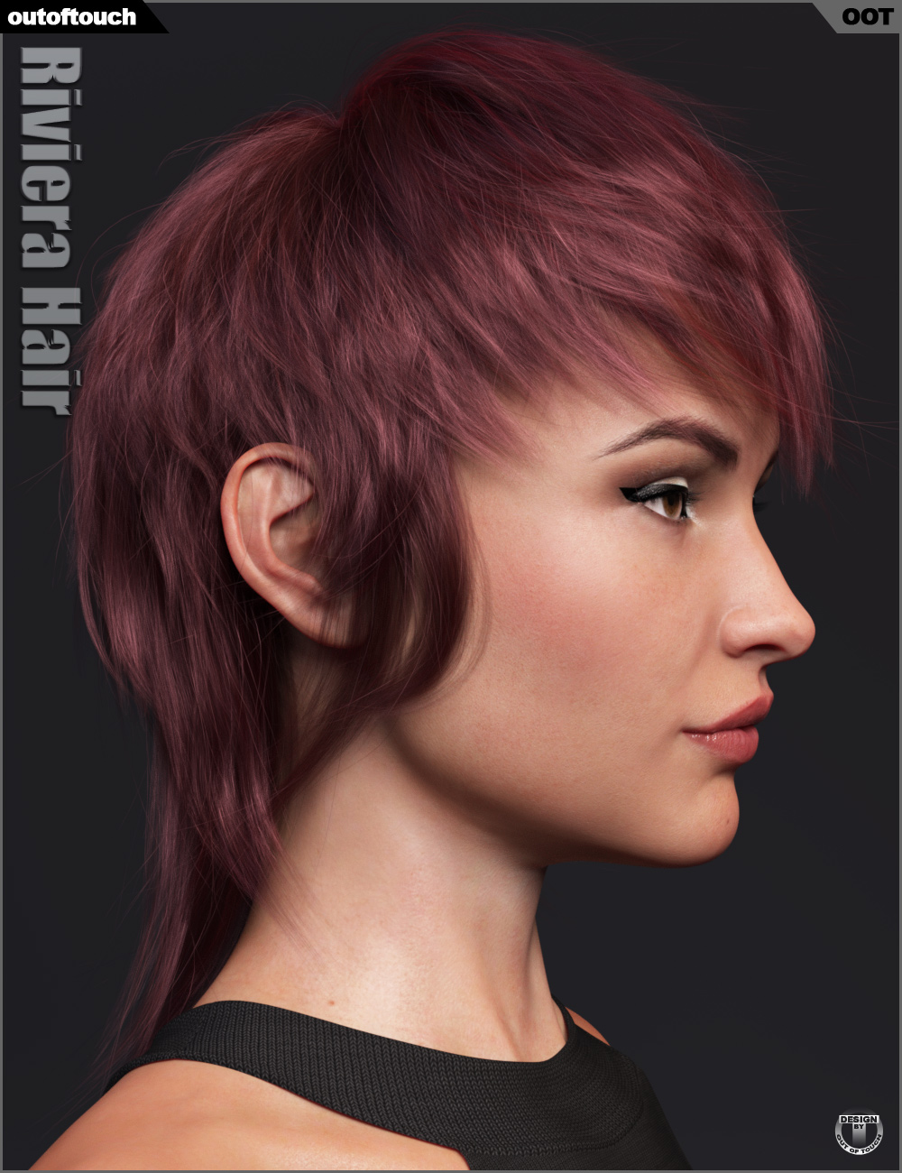 Riviera Hair for Genesis 3 and 8 by: outoftouch, 3D Models by Daz 3D