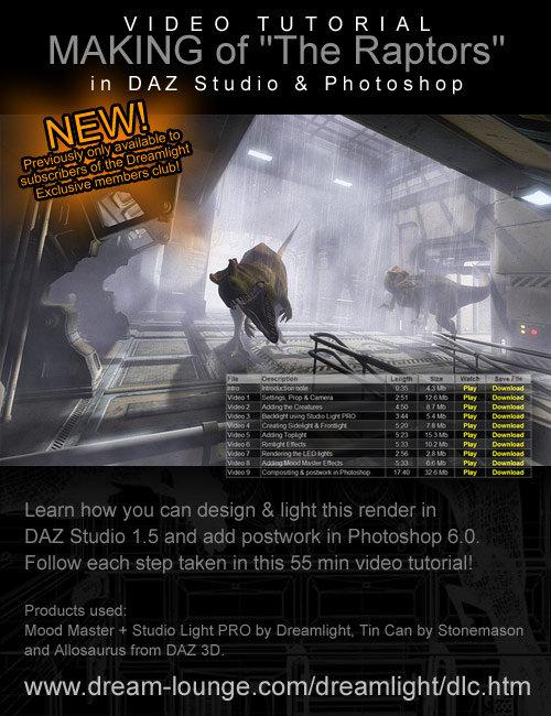Making of: 'The Raptors' in DAZ Studio by: Dreamlight, 3D Models by Daz 3D