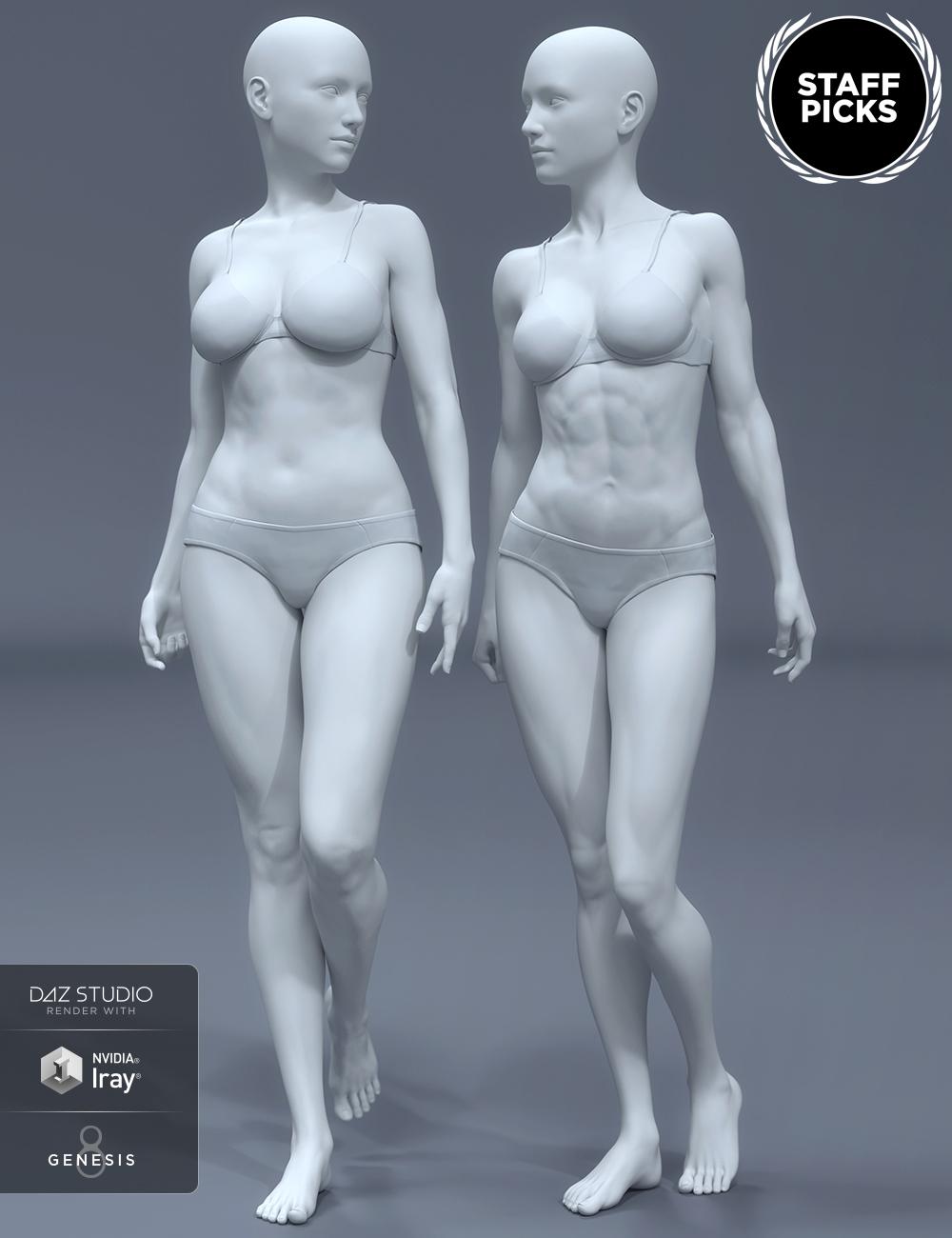 HD Body Shapes for Genesis 8 Female by: , 3D Models by Daz 3D