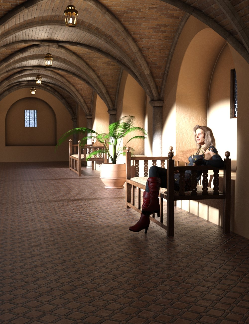 Modular Moroccan Building Set by: TangoAlpha, 3D Models by Daz 3D