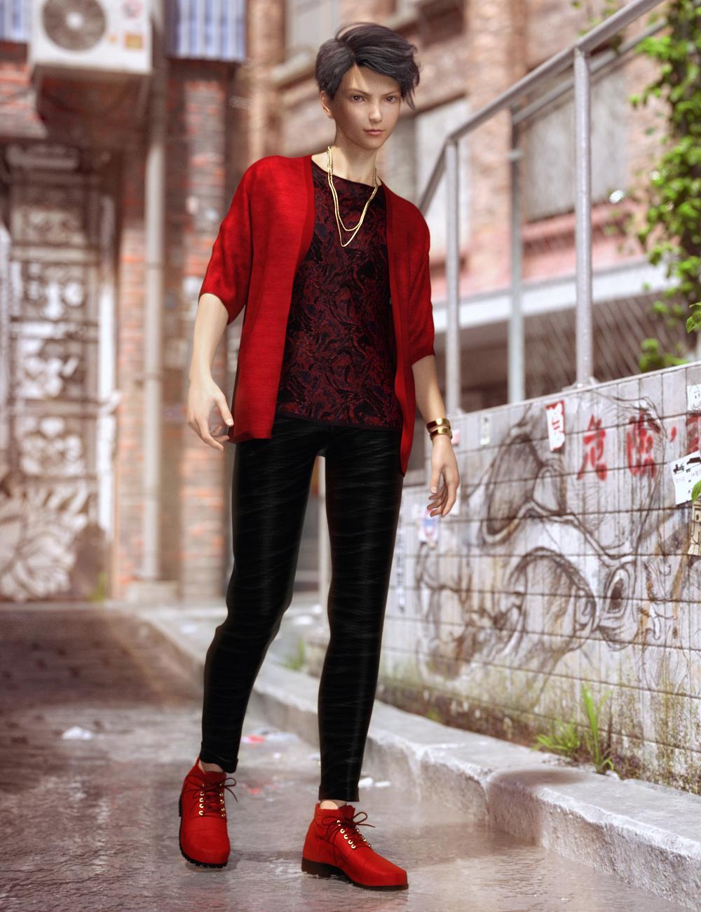 dForce Pop Style Outfit for Genesis 8 Male(s) by: Barbara BrundonOziChick, 3D Models by Daz 3D