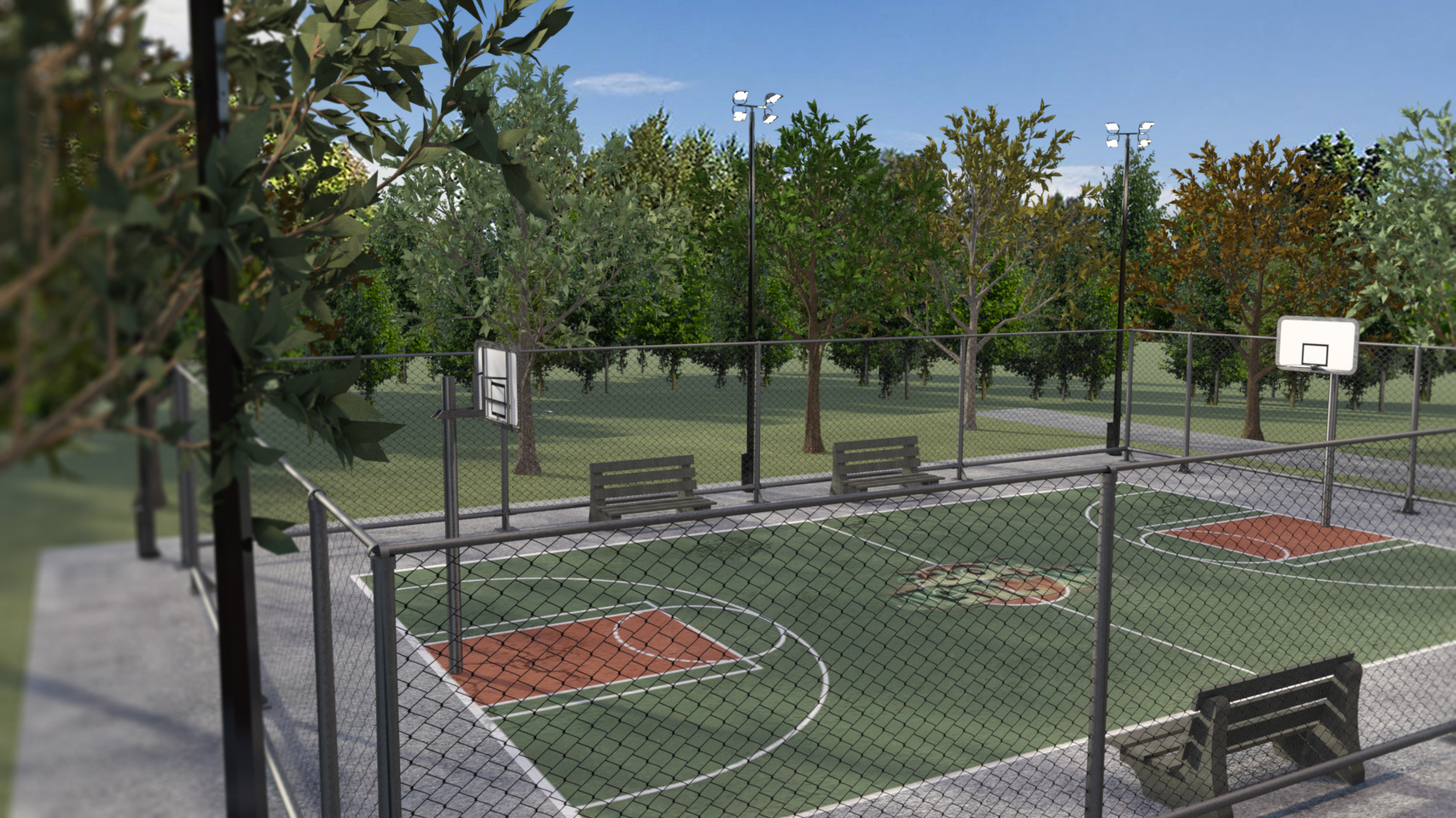 Basketball Court by: kubramatic, 3D Models by Daz 3D